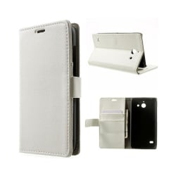 Mobilplånbok 2-kort Huawei Ascend Y550 Vit