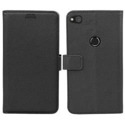 Mobilplånbok 2-kort Huawei Honor 8 Lite / P8 Lite 2017 Svart