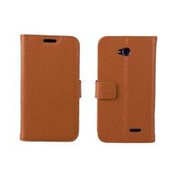 Mobilplånbok 2-kort LG L70 / L65 (D280) Brun