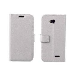 Mobilplånbok 2-kort LG L70 / L65 (D280) Vit