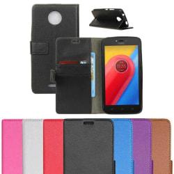 Mobilplånbok 2-kort Motorola Moto C (XT1754) Rosa