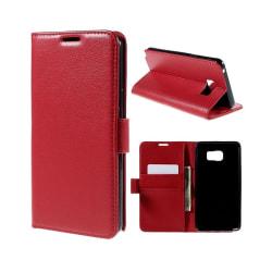 Mobilplånbok 2-kort Samsung Galaxy Note 5 (SM-920C) Röd