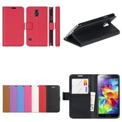 Mobilplånbok 2-kort Samsung Galaxy S5 Mini (SM-G800F) Vit