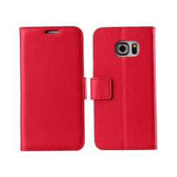 Mobilplånbok 2-kort Samsung Galaxy S6 Edge Plus (SM-G928F) Röd