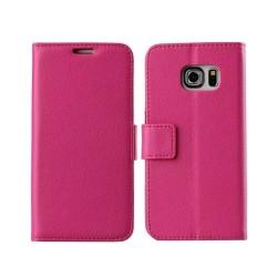 Mobilplånbok 2-kort Samsung Galaxy S6 Edge Plus (SM-G928F) Rosa