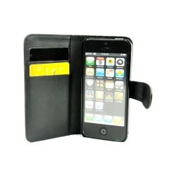 Mobilplånbok 2-kort slim Apple iPhone 4 , 4S Svart