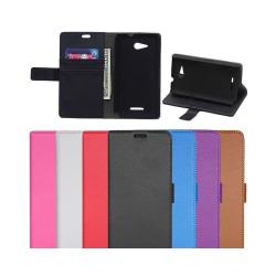Mobilplånbok 2-kort Sony Xperia E4G (E2003) Vit