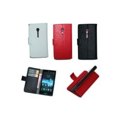 Mobilplånbok 2-kort Sony Xperia Ion (LT28i) Svart