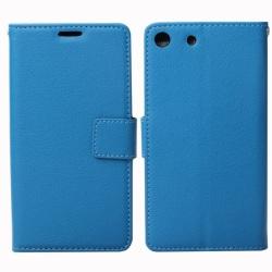 Mobilplånbok 2-kort Sony Xperia M5 (E5663) Blå