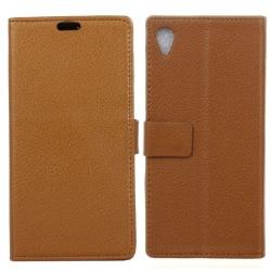 Mobilplånbok 2-kort Sony Xperia XA1 (G3121) Brun