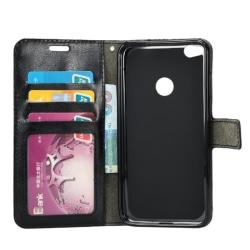 Mobilplånbok 3-kort Huawei honor 8 lite/P8 lite 2017 Svart