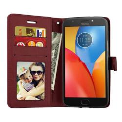 Mobilplånbok 3-kort Motorola Moto G5s (XT1794) Brun