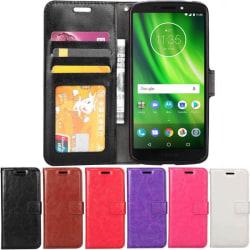 Mobilplånbok 3-kort Motorola Moto G6 Play (XT1922) Röd