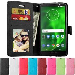Mobilplånbok 3-kort Motorola Moto G6 Plus (XT1926) Lila
