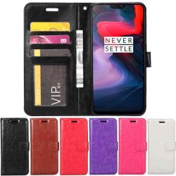 Mobilplånbok 3-kort OnePlus 6 (A6000) Lila