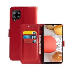Mobilplånbok 3-kort Samsung Galaxy A42 Röd