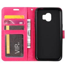 Mobilplånbok 3-kort Samsung Galaxy J4 Plus (SM-J415F) Rosa