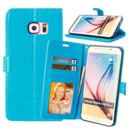 Mobilplånbok 3-kort Samsung Galaxy S6 Edge Plus (SM-G928F) Ljusblå