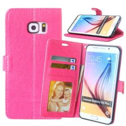 Mobilplånbok 3-kort Samsung Galaxy S6 Edge Plus (SM-G928F) Rosa