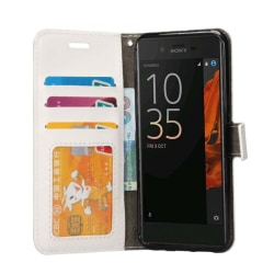Mobilplånbok 3-kort Sony Xperia XZ / XZs (F8331) Vit