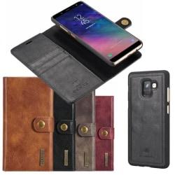 Mobilplånbok DG-Ming 2i1 Samsung Galaxy A6 Plus (SM-A605F) Grå