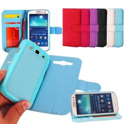 Mobilplånbok magnetisk 2i1 Samsung Galaxy S3 (GT-i9300) Vit