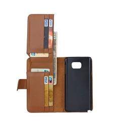 Multiplånbok 7-kort Samsung Galaxy Note 5 (SM-920C) Brun