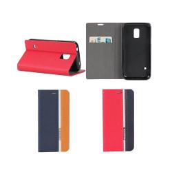 MuteCase plånbok Samsung Galaxy S5 Mini (SM-G800F) Röd