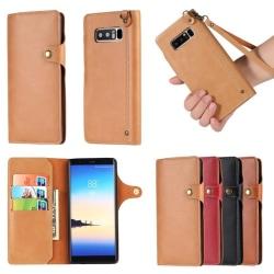 Retro Mobilplånbok Samsung Galaxy Note 8 (SM-N950F) Mörk Brun