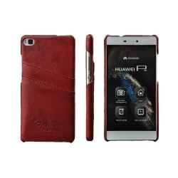 Retro skal med kortplatser Huawei P8 2015 (GRA-L09) Röd