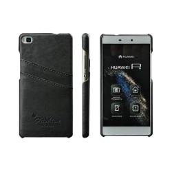 Retro skal med kortplatser Huawei P8 2015 (GRA-L09) Mörk Grå