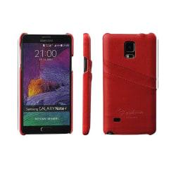 Retro skal med kortplatser Samsung Galaxy Note 4 (SM-N910F) Röd