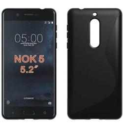 S Line silikon skal Nokia 5 (TA-1053) Svart