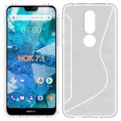 S Line silikon skal Nokia 7.1 2018 (TA-1095) Transparent