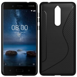 S Line silikon skal Nokia 8 (TA-1004) Svart