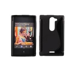 S Line silikon skal Nokia Asha 502 Svart