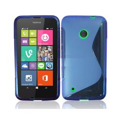 S Line silikon skal Nokia Lumia 530 (RM-1017) Blå