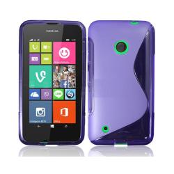 S Line silikon skal Nokia Lumia 530 (RM-1017) Lila