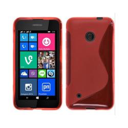 S Line silikon skal Nokia Lumia 530 (RM-1017) Röd
