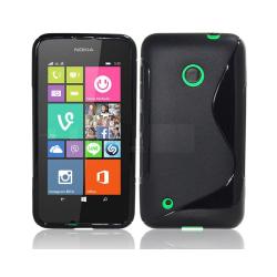 S Line silikon skal Nokia Lumia 530 (RM-1017) Svart