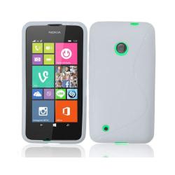 S Line silikon skal Nokia Lumia 530 (RM-1017) Vit