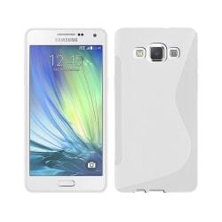 S Line silikon skal Samsung Galaxy A3 2015 (SM-A300F) Vit