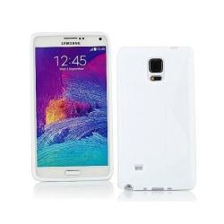 S Line silikon skal Samsung Galaxy Note 4 (SM-N910F) Vit