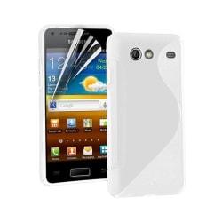 S Line silikon skal Samsung Galaxy S Advance (GT-i9070) Vit