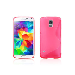 S Line silikon skal Samsung Galaxy S5 Mini (SM-G800F) Rosa