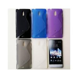 S Line silikon skal Sony Xperia P (LT22i) Lila