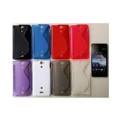 S Line silikon skal Sony Xperia V (LT25i) Röd