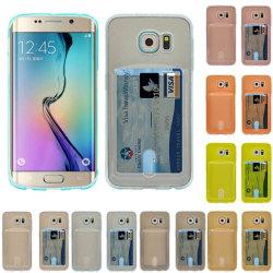 Silikon skal med kortplats Samsung Galaxy S6 Edge (SM-G925F) Rosa