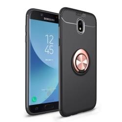 Slim Ring Case Samsung Galaxy J7 2017 (SM-J730F) Svart/Rosè