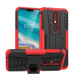 Stöttåligt skal med ställ Nokia 7.1 2018 (TA-1095) Röd